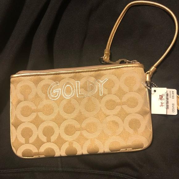 Coach Handbags - Goldy Coach wristlet